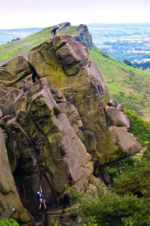 Climbing On The Roaches